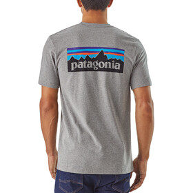 Patagonia P-6 Logo Camiseta responsable Hombre, gravel heather